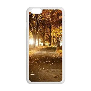Tony Diy Autumn forest scenery cell phone case cover for KFHT0M2lUrQ iPhone 6 Plus 5.5""