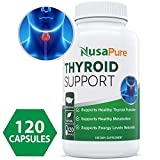 #1 Thyroid Support with Iodine Supplement for Energy Metabolism Boost 120 Tablets