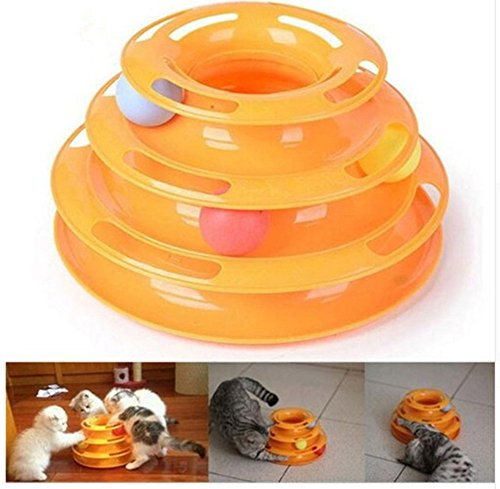 Pet Cat Toy Luxury Cat Interactive Pet Toy Training Plate Crazy Ball Disk Play Activity Game