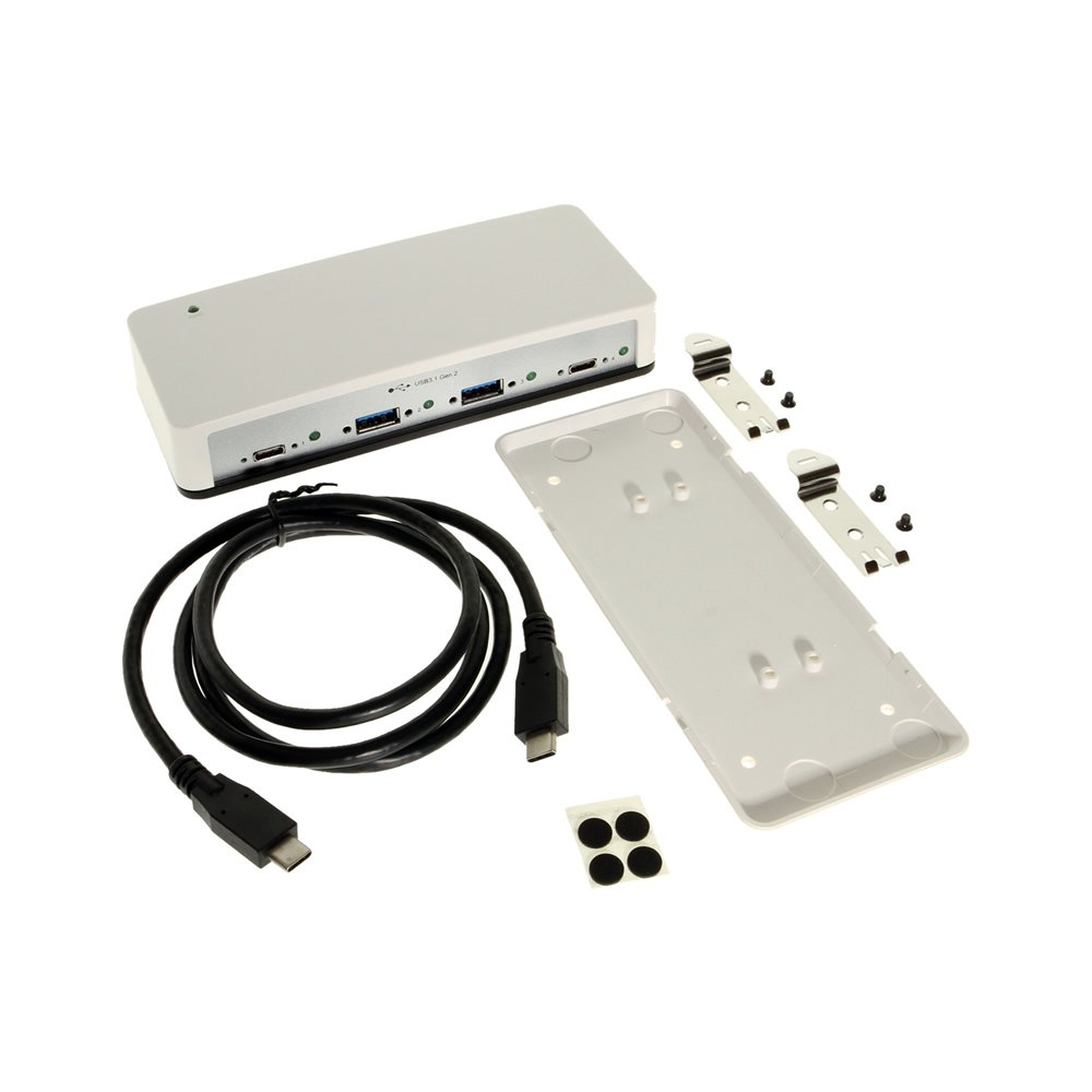 4 Port Type-C USB 3.1 Gen2 10Gbps Hub with VL820 Chip and DIN Rail Mounting Plate Kit by Coolgear (Image #4)