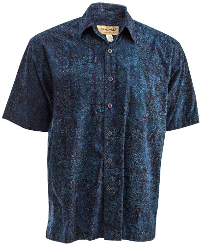 Flowers Hawaiin Blue (Antigua Summer (2XL, Sapphire))
