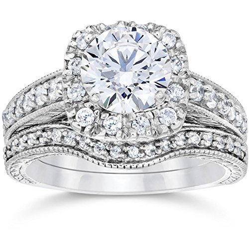 wedding rings white gold diamond - 2