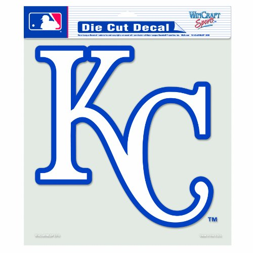 MLB Kansas City Royals 8-by-8 Inch Diecut Colored Decal (Wincraft Kansas Royals City Decal)