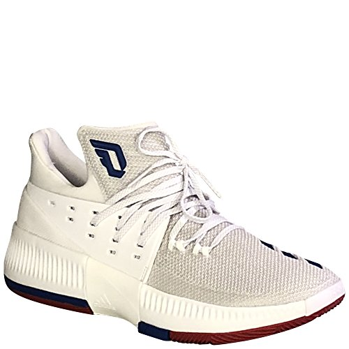 Adidas Mens Sm Dame 3 Nba / Ncaa Basketball Runningwhite / Bluesld / Powerred 9.5 D (m) Us
