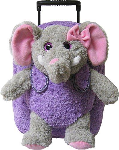 Friends Backpack Rolling (Kreative Kids Elephant Rolling Backpack w/ Shiny Eyes, Removable Stuffie & Wheels)