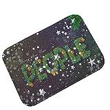 Pgojuni 2018 Christmas New Year Festive Decoration Carpet Waterproof Non-Slip Foot Pad1PC 40x60CM (F)