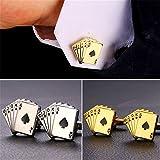 Cool Poker Cufflinks Mens Shirt Accessories Gold Plated Cuff Links 1 Pair 2 Pcs Set