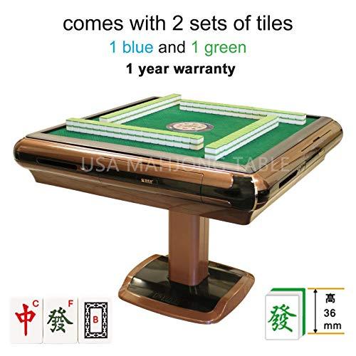 东方不败麻将桌 Automatic Mahjong Table with 4 Drawers Chinese Style, Philippine Style, Comes 2 Sets of Tiles (Blue & Green) 36mm Tiles 小尺寸麻将牌 & 1 Table Cover