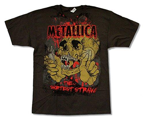Alstyle Apparel Metallica Shortest Straw Brown Short Sleeve Shirt (XL)