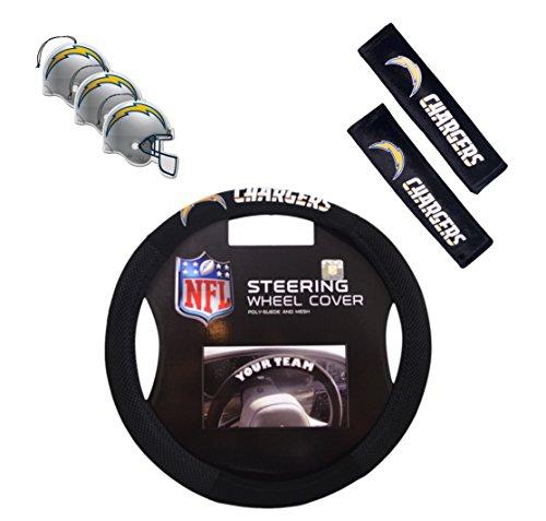 Fremont Die/TeamProMark Official National Football League Fan Shop Authentic Auto Accessories Bundle (San Diego Chargers) ()