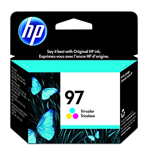 450 Page Yield Tri Color - HP 97 Tri-color Original Ink Cartridge (C9363WN) for HP Deskjet 460 6830 6840 6940 6988 9800 HP Officejet 100 150 H470 7210 7310 7410 HP Photosmart 335 375 385 422 425 428 475 2575 8049 8050 8150 8450 8750 B8350 HP PSC 1610 2355