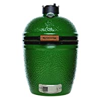 Small Keramikgrill Big Green Egg grün XXL Keramik Ceramic Smoker Garten ✔ Deckel ✔ oval ✔ Grillen mit Holzkohle