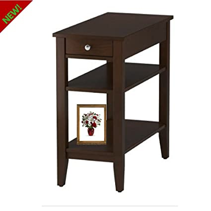 Sofa Table With Shelves And Top Drawer Narrow