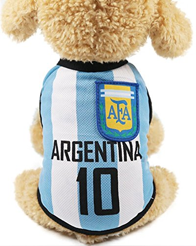 GabeFish Dog World Cup T Shirt Pets Football Jersey Sports Soccer National Team Vest Cat Summer Cool Clothes Apparel Argentina X-Small