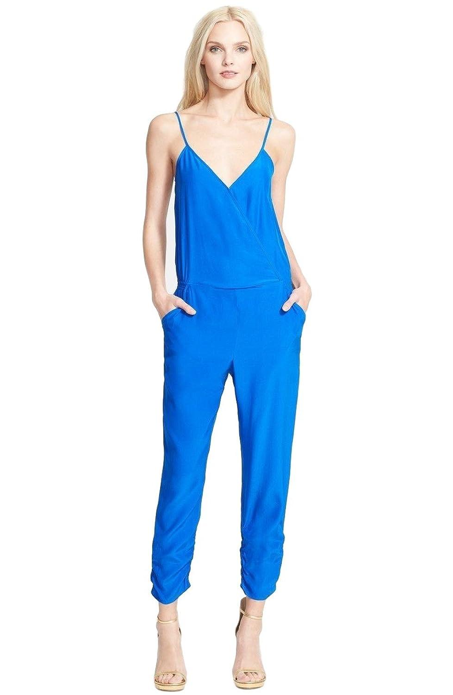 Parker Liv Silk Jumpsuit Bluette Royal Blue Size Medium