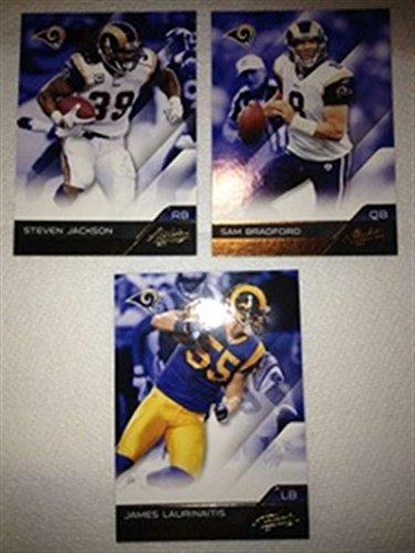 2011 Absolute Memorabilia Retail St. Louis Rams Team Set 3 Cards Sam Bradford (Memorabilia St Louis Rams)