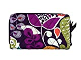Vera Bradley Plum Crazy Zip Around Wallet Solid Purple Lining