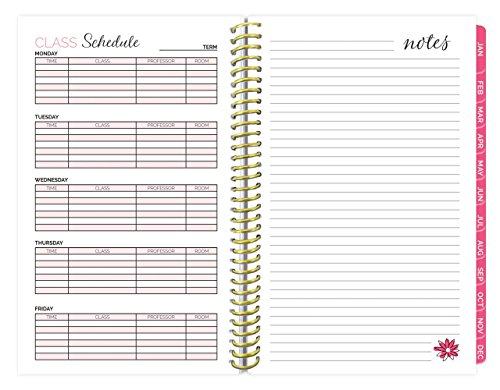 bloom daily planners 2018 Calendar Year Daily Planner - Passion/Goal Organizer - Monthly and Weekly Datebook and Calendar - January 2018 - December 2018 - 6