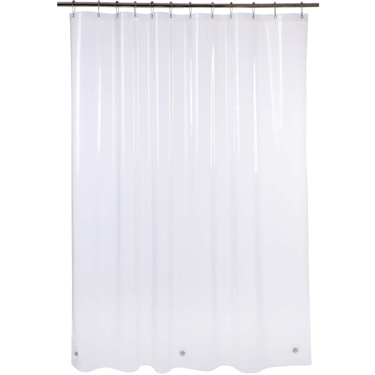 "Amazer Shower Curtain Liner, 72"" W x 72"" H Clear EVA 5G Bathroom Shower Curtains No Smell with Rustproof Grommets Holes"