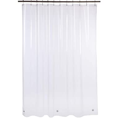Amazer Shower Curtain, 72  W x 84  H Clear EVA 5G Mildew Resistant Bathroom Shower Curtains No Smell with Rustproof Grommet Holes