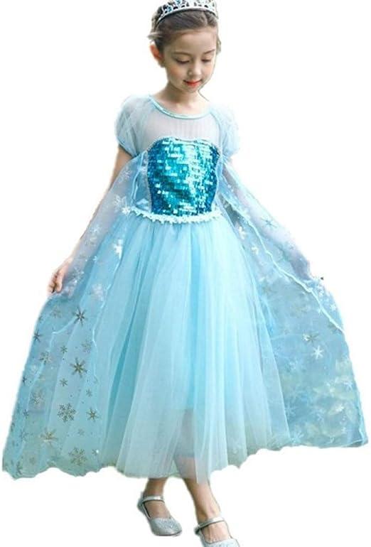 BLOIBFS Vestido De Princesa Elsa Reina Frozen Disfraz Disfraces ...