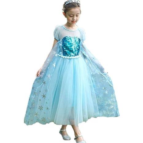 Bloibfs Vestido De Princesa Elsa Reina Frozen Disfraz