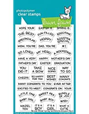 Lawn Fawn Clear Stamps - Reveal Wheel Spring Sentiments (LF1900)