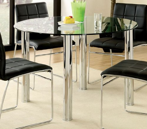 Dining Table w/ Glass Top by Furniture of America