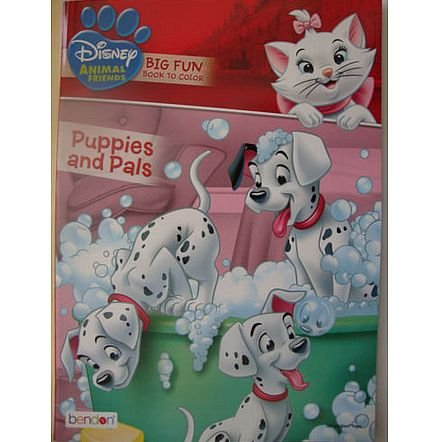 Disney Animal Friends Big Fun Book to Color - Puppies And Pa