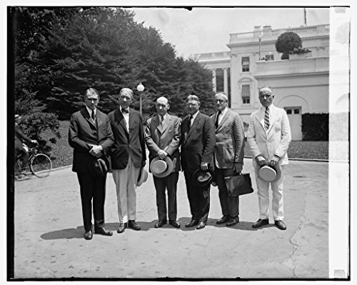Vintography 16 x 20 Reprinted Old Photo Gen. Frank T. Hines & Council Medical & Hospital Affairs, 7/23/24 1924 National Photo Co 54a by Vintography