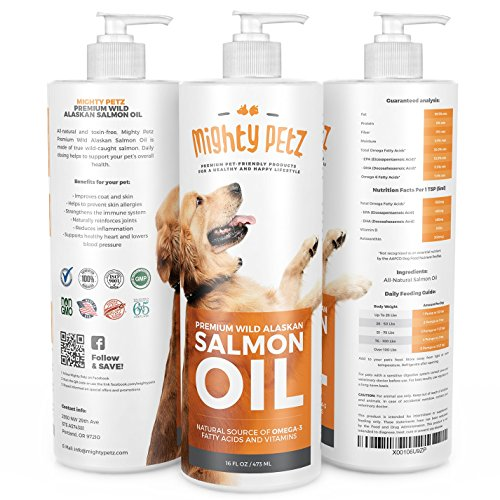 Mighty petz itching shedding relief pure wild alaskan for Fish oil for dogs skin