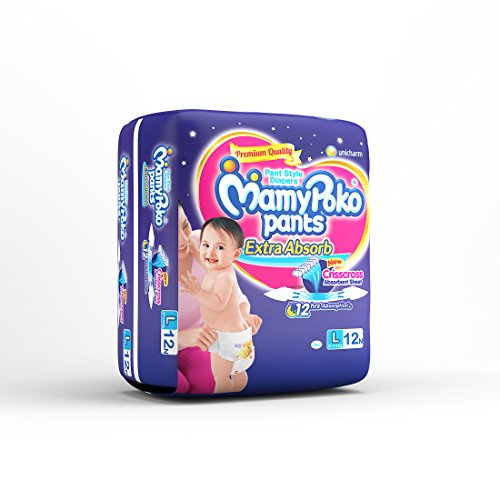 MamyPoko Pants Extra Absorb Diapers Large Size 12 Pieces