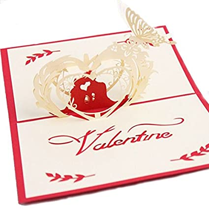 3d love pop up card and envelope romantic unique pop up greeting cards for birthday