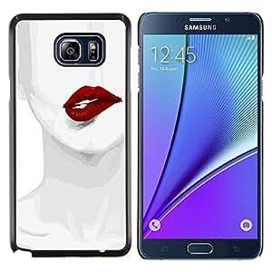 Eason Shop / Premium SLIM PC / Aliminium Casa Carcasa Funda Case Bandera Cover - Bite Pintura Sexy Mujer Arte Dibujo - For Samsung Galaxy Note 5