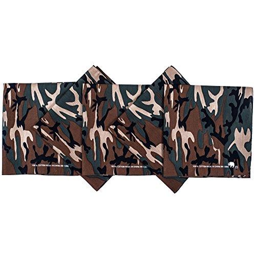 - Original Elephant Brand Bandanas 100% Cotton Since 1898-5 Pack (Camouflage)
