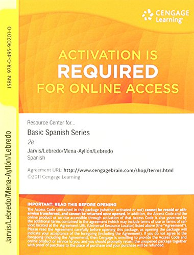Price comparison product image Resource Center 24-Months Printed Access Card for Jarvis' Basic Spanish: The Basic Spanish Series