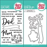 ShopForAllYou Stamping & Embossing (Stamp & Die Bundle)''MOM and DAD'' Clear Stamps Only OR Clear Stamp