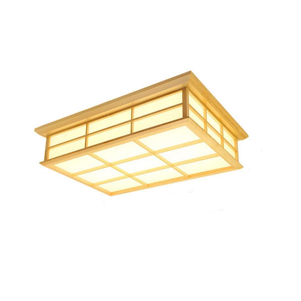 LED 和風 シーリングライト 照明器具 和室和風 木目調 15畳 長方形 LED対応 調光調色可能 (電球色, S) B07S82KGJ5 電球色 S