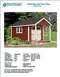 14' x 8' Cabin Loft Utility Shed with Porch Plans / Plueprint - Design #P61408