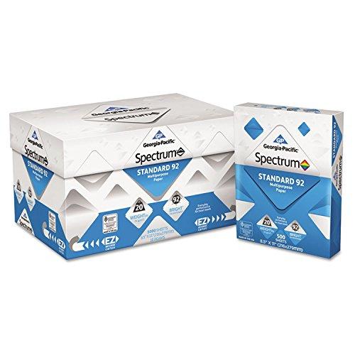 Georgia Pacific 999705 Spectrum Standard 92 Multipurpose Paper, 20lb, 8.5 x 11, White, 5000 Shts/Ctn by 4COU