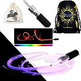 Fibreflies PixelWhip Rev4 FIBRE OPTIC Glow Whip + Travel Bag! Western Style Skill Whips