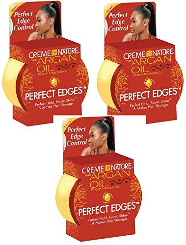Creme of Nature Argan Oil Perfect Edges Control 2.25 oz. Jar (3 Pack) -