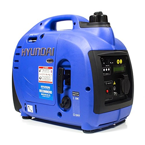 Hyundai HY1000SI 1000 W Portable 4-Stroke Petrol Generator / Inverter Easy...