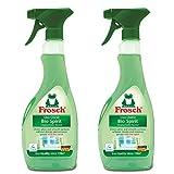 Frosch Bio Spirit Glass Cleaner Spray Bottle, 500ml (Pack of 2)