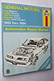General Motors J-Cars Automotive Repair Manual: 1982 Through 1994 - Buick Skyhawk; Cadillac Cimarron; Chevrolet Cavalier; Oldsmobile Firenza; Pontiac J2000 & Sunbird