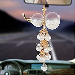 Lucky Gourd Crystal Rear View Mirror Ornament