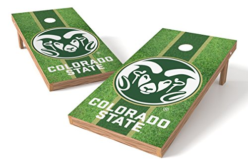Wild Sports NCAA College Colorado State Rams 2' x 4' Field Authentic Cornhole Game Set