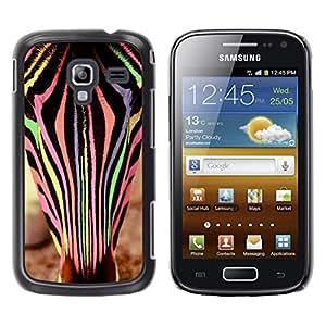 LECELL--Funda protectora / Cubierta / Piel For Samsung Galaxy Ace 2 I8160 Ace II X S7560M -- Zebra Animal Colors Vet Cute --