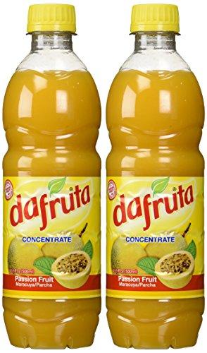 t Juice Concentrate - 16.9 FL.Oz | Suco Concentrado de Maracujá Dafruta - 500ml - (PACK OF 02) (Passion Fruit Juice Concentrate)