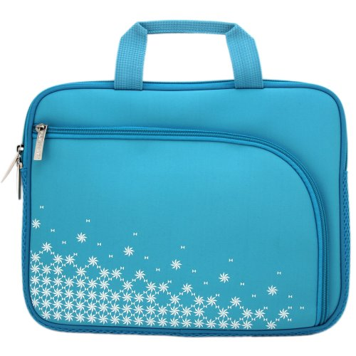 Blue Netbook Fitting - Filemate 3FMNG810BL10-R Imagine 10-Inch Netbook/Tablet Carrying Case - Blue with Pattern